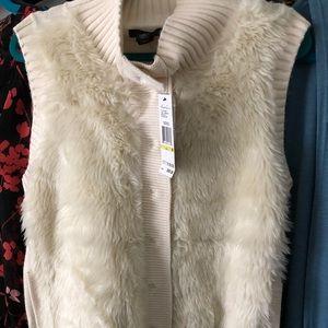 Kenneth Cole faux fur vest
